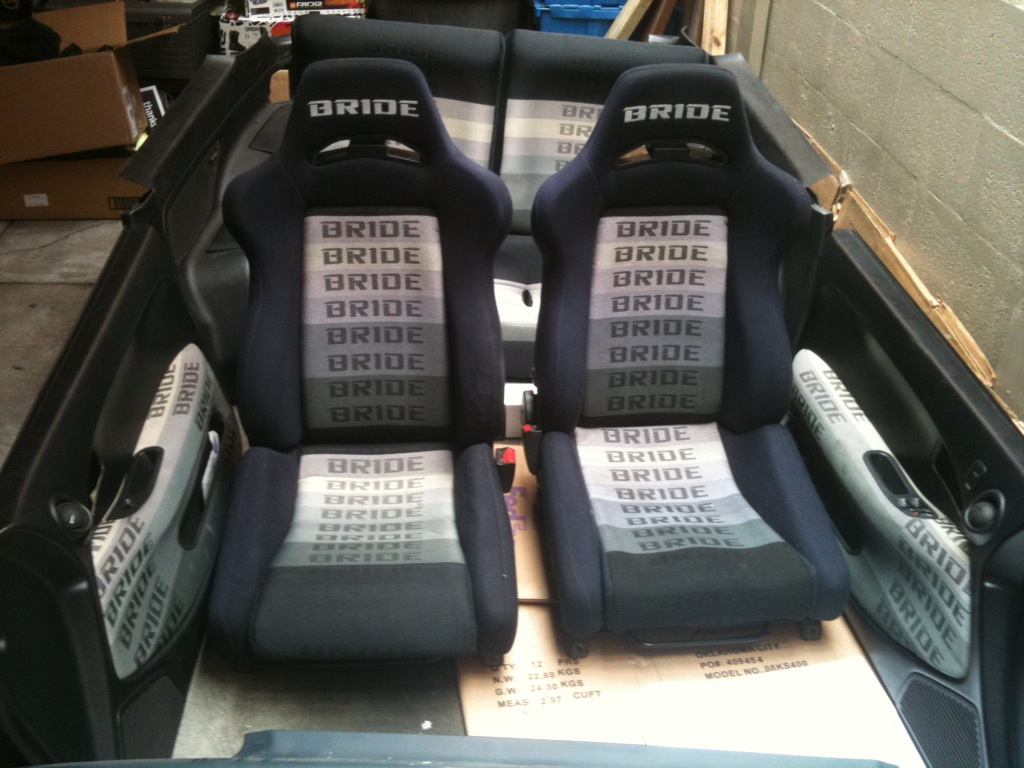 Bride Wrapped Eg Interior Seats Rear Door Panels Honda
